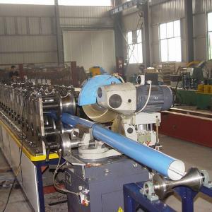 China 410 mm Rain Gutter Making Machine High Efficiency Gutter Roll Forming Machine on sale