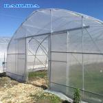 Low Or High Tunnel Plastic Greenhouse Hot Dip Galvanized High Latitude Area