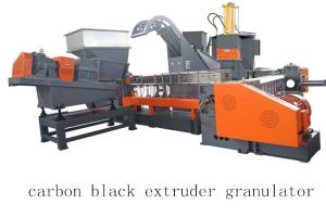 China Carbon Black Single Twin Screw Two Stage Extruder Granulator Making Machine on sale