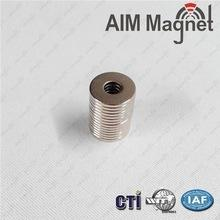 China D10xd3.7x1.5mm neodymium ring magnet N35 grade Zinc coating on sale