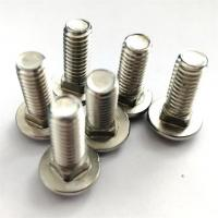 Dacromet Cup Head Square Neck Bolt , Stainless Steel Mushroom Head Bolts