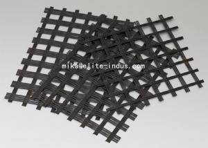 China Warp Knitted Self Adhesive Fiberglass Geogrid With Asphalt For Road Construction on sale