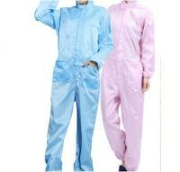 China Particle Proof Disposable Protective Suit , One Piece Pink / Blue Disposable Coveralls on sale