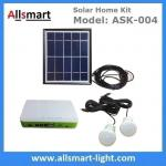 DC Indoor Solar Home Lighting System Kit With 2 Bulbs 5M Wire Solar Emergency Camping Light Can Charge Mobile Cell Phone