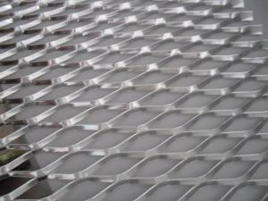 China Perforated  flattened Expanded Plate Mesh / heavy gauge wire mesh on sale