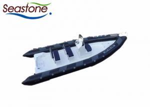 China Dark Grey 12 Man Inflatable Dinghy  , Rib Tender Boat 660cmBox High Maneuverability on sale