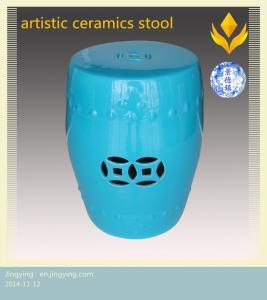 China colourful hollow ceramics stool on sale