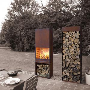 Yard Garden Cast Iron Fire Pot Corten Steel Fire Pit Wood