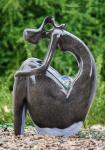 Fontes exteriores personalizadas do jardim das estátuas da fonte de água da forma para a casa