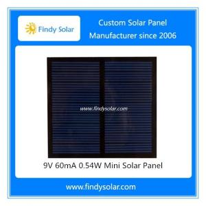 China 9V 60mA 0.54W Mini Solar Panel on sale