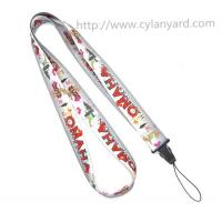 China Cheap full color cell phone holder lanyard, China factory colorful polyester neck lanyards on sale