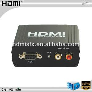 China 1080P Mini  vga +r/l to hdmi converter with vga analog on sale