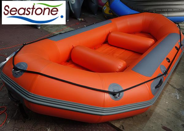 Commercial White Water Rafting Boat Self Draining Customized Color