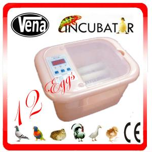 China Full automatic 12 Egg Incubator for quail eggs on sale