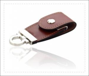 China Oem Gift Leather USB Stick / Leather USB Flash Drive Long Service Life on sale