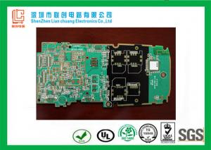 China Mobile Terminal Device 8 layer controlled impedance pcb white / black legend on sale
