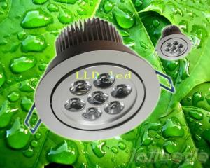 China 7W 15 Degree 220V 6000K CW Recessed Led Ceiling Lights Fixture with Working Frequency 50Hz on sale