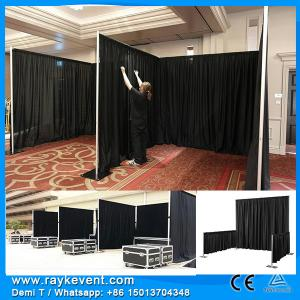 China Indoor pipe and drape wedding pipe and drape base trade show banner on sale