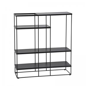 China Metal Display fixture used for hotel bedroom stainless working bookcase and Cloth store furniture factory on sale