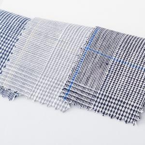China Woven 100% Linen Yarn Dyed Shirt Fabric Stock Lot on sale