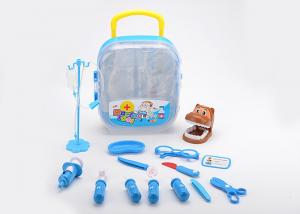 China 17 Pcs Kids Play Pet Dentist Toy Medical Case , Role Play Children's Doctor Bag on sale