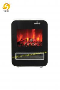 China Black And White Adjustable Floor Standing Electric Fireplace 1000W / 2000W on sale
