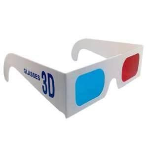 China OEM Professional Cardboard Red Blue Paper 0.18mm PET lens 3D Glasses for magazines,3D games on sale