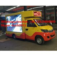 Karry brand mini mobile LED digital advertising truck for sale, HOT SALE! best price 4*2 LHD mini P6/P8 LED truck