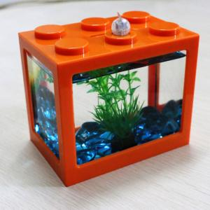 China Acrylic Mini Fish Tank for Home and Office Aquarium Fish Tank 100% Brand New Aquariums on sale