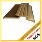 golden color brass extrusion profile sections C38500 CuZn39Pb3  CuZn39Pb2 CW612N C37700