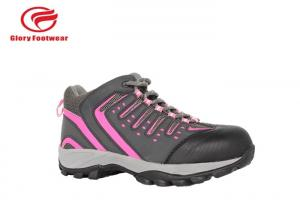 China Action Leather Steel Toe Work Shoes , Black Steel Toe Tennis Shoes With EVA  / Rubber on sale