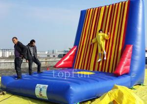 China PVC Velcro Inflatable Sticky Wall , Interesting Inflatable Climbing Wall on sale