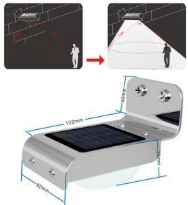 China Waterproof 16 LED Solar Powered Sound Motion Sensor Light on sale