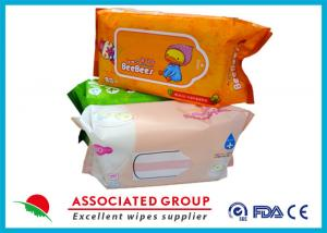 China Mix Package Wet Wipe Tissues Baby Skin Care With Plain Spunlace Nonwoven Fabric on sale