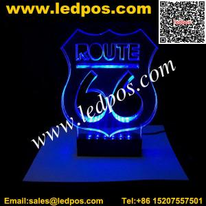 Countertop Laser Engraving Acrylic LED Edge Lit Sign for sale – 3D