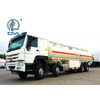 China 25000L Oil Tanker Trailer 8X4 , HOWO Water Tanker Truck  30000liters 25000liters new Sinotruk fuel tank trucks on sale