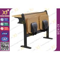 Melamine Desktop Foldable Lecture Theatre Chairs Iron Hinge Type , ISO9001