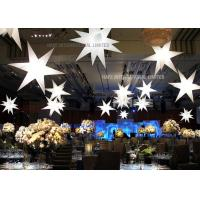 Star Shape Inflatable Lighting Decoration with strong and beautiful Polysilk material 1200W halogen