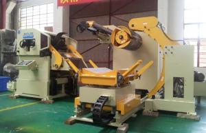 China 18KW Steel Coil Feeder Straightener Machine Cum Servo Roll Feeder 3 In 1 on sale