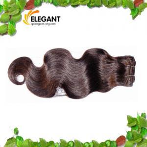 China Fashion 18 inch Body Wave Dark Brown Indian Human Hair Weft on sale