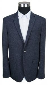 China Black Blazer For Men Cotton Polyester Material Knitting Fabric Navy on sale