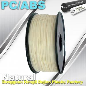 China High Toughness 1.75mm 3D Printer Filament PC / ABS Filament 1.3Kg / Roll on sale
