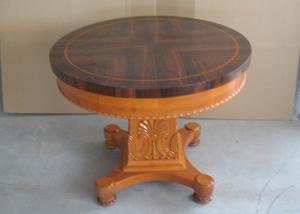... Quality Hotel Lobby Modern Wood Coffee Table , Art Work End Round Dark Cherry  Wood For ...