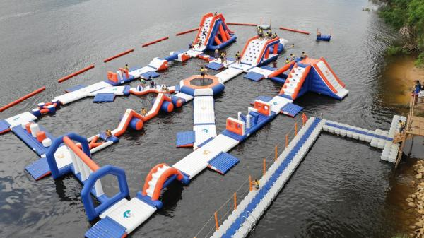 Cambodia Water Games Inflatable Water Park Equipment For