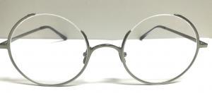 China Half Rim eyeglasses Round spectacle frames nickle-free plating metal frame light weight on sale