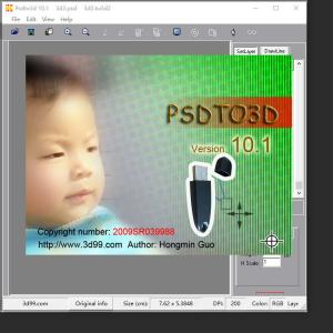 China PSDTO3D 101 version Lenticular Software with powerful function for Lenticular Photo Design and 3D Lenticular Printing on sale