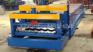 China Updated Tech Automatic High speed Glazed Steel Roof Tile Roll Forming Machine 828 on sale