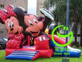 China 2016 hot sell Mickey mouse inflatable bounce house  with 24months warranty GT-BC-1840 on sale
