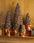 envase de empaquetado de madera de la Navidad de la etiqueta