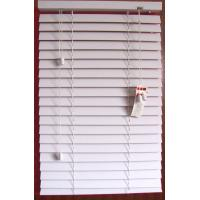 White Color 50mm PVC Foamwood Venetian Blinds Window Treatment